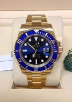 Rolex replica Submariner Date 116618LB Yellow Gold